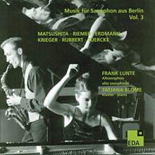 Musik für Saxophon aus Berlin - Vol. 3